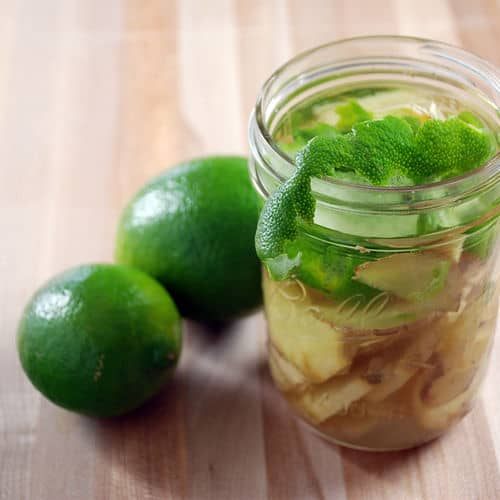 Moscow mule infused vodka