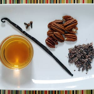 Chocolate pecan infused bourbon