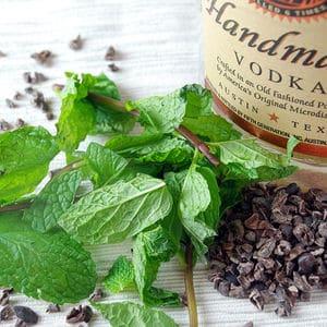 Mint chocolate infused vodka2