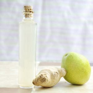 Pear ginger whipping siphon infused vinegar
