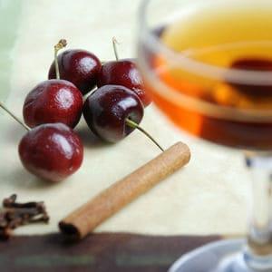 Black cherry sous vide infused rye