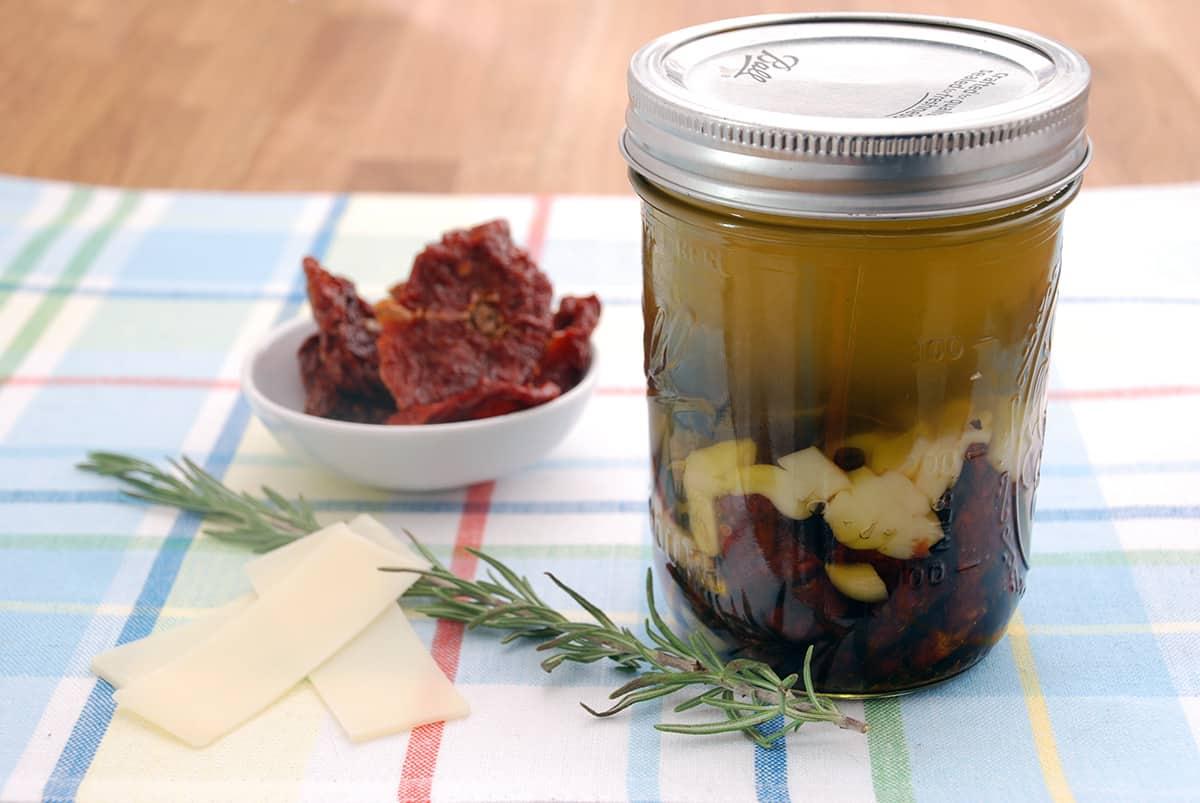 Italian infused olive oil