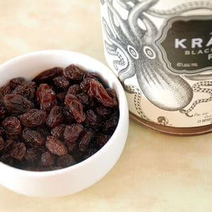 Rum infused raisins