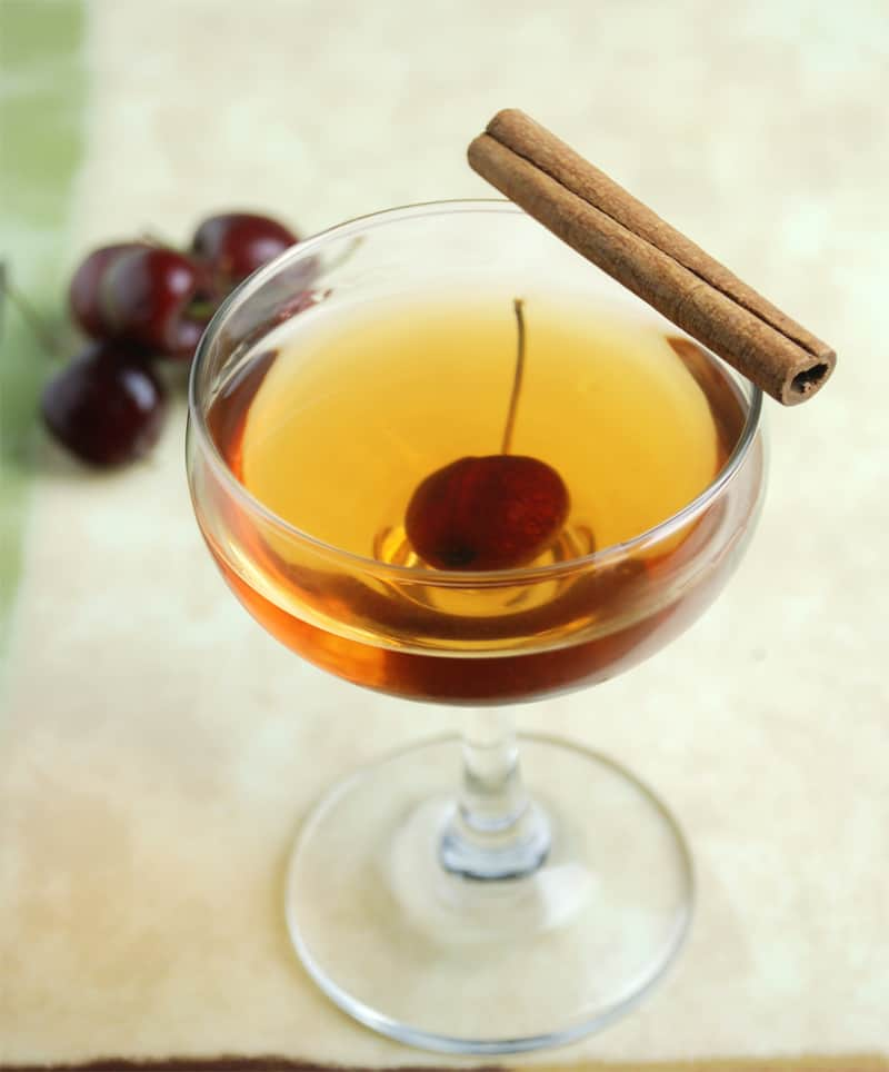 Black cherry infused manhattan