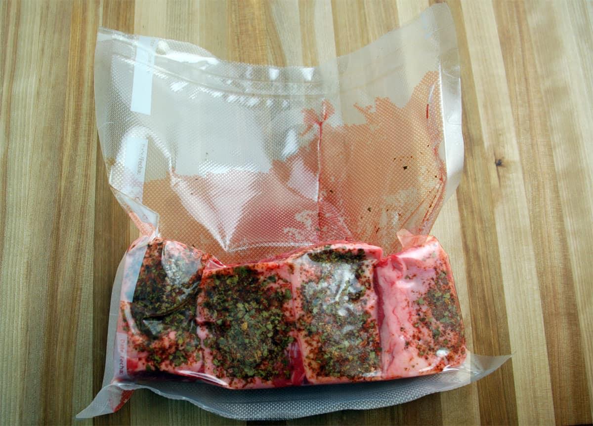Bagged short ribs