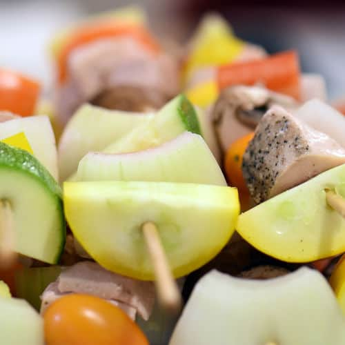 Sous vide shish kabobs chicken