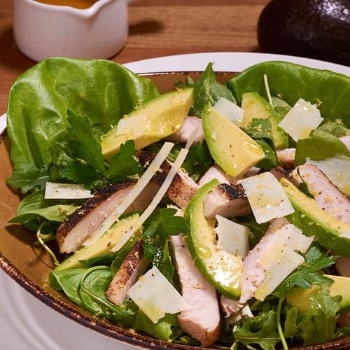 Sous vide turkey avocado salad 11
