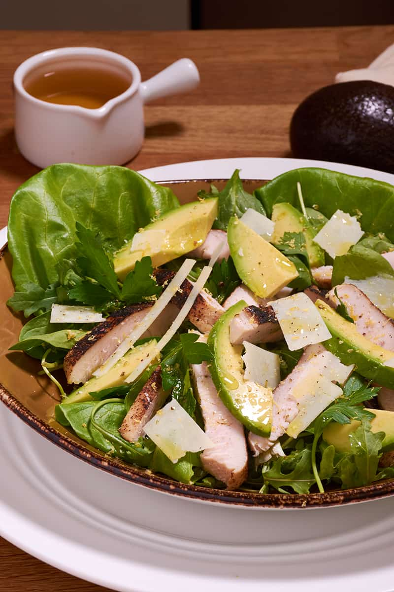Sous vide turkey avocado salad 11