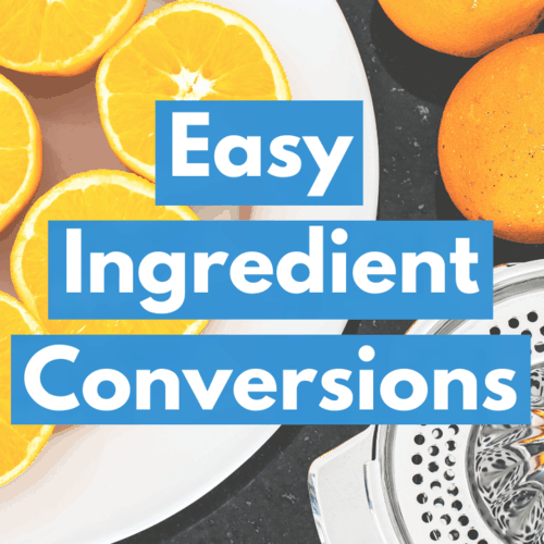 How to easily convert the measurements in your recipes square