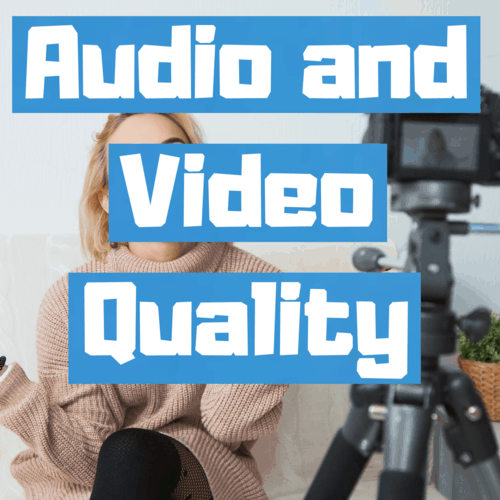 How to maximize audio and video quality in a small space square