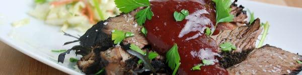 Sous vide brisket cranberry bbq sauce