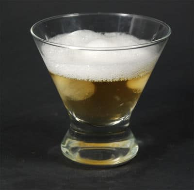 Frothy tequila with lecithin citrus air