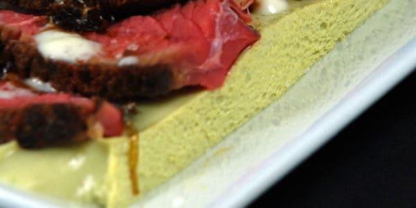 Iota carrageenan poblano custard