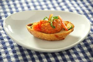 Red pepper crustini top