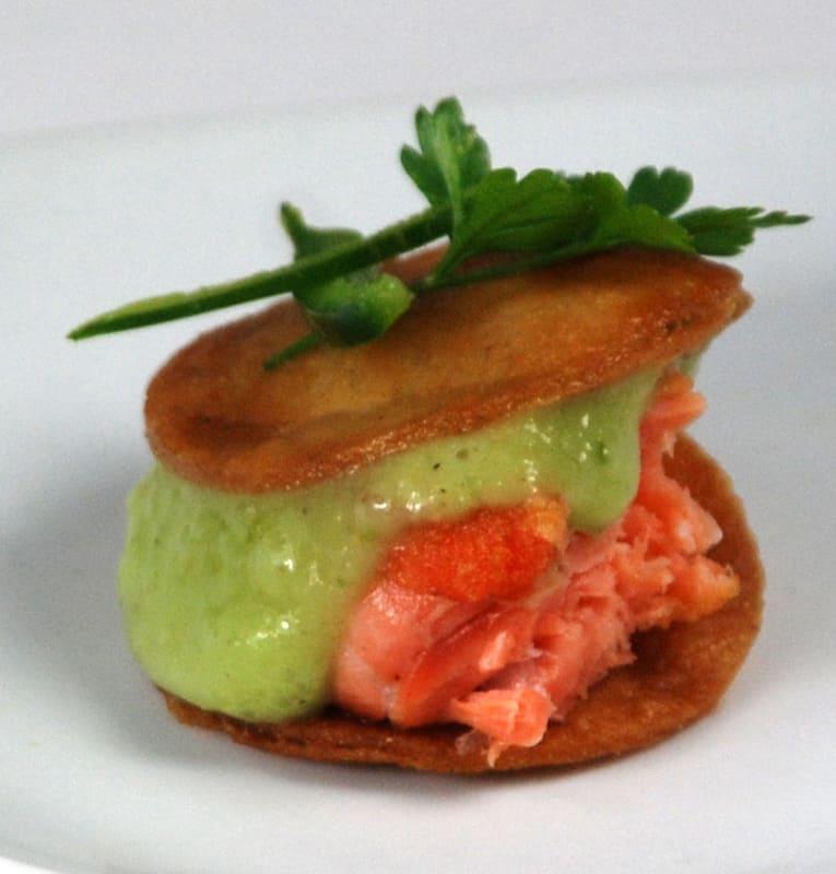 Salmon bites with tomatillo agar fluid gel sauce recipe amazing tomatillo agar fluid gel pudding forumfinder Images