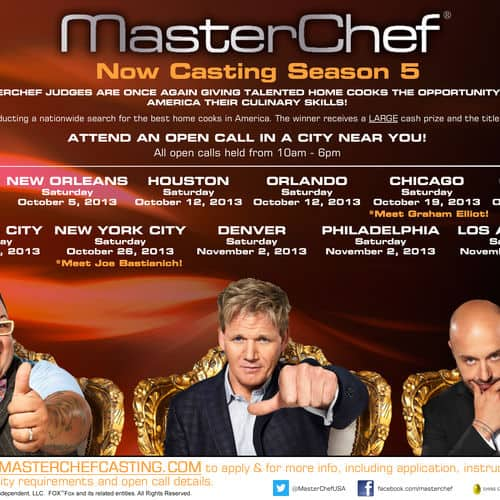 Master chef flyer all cities