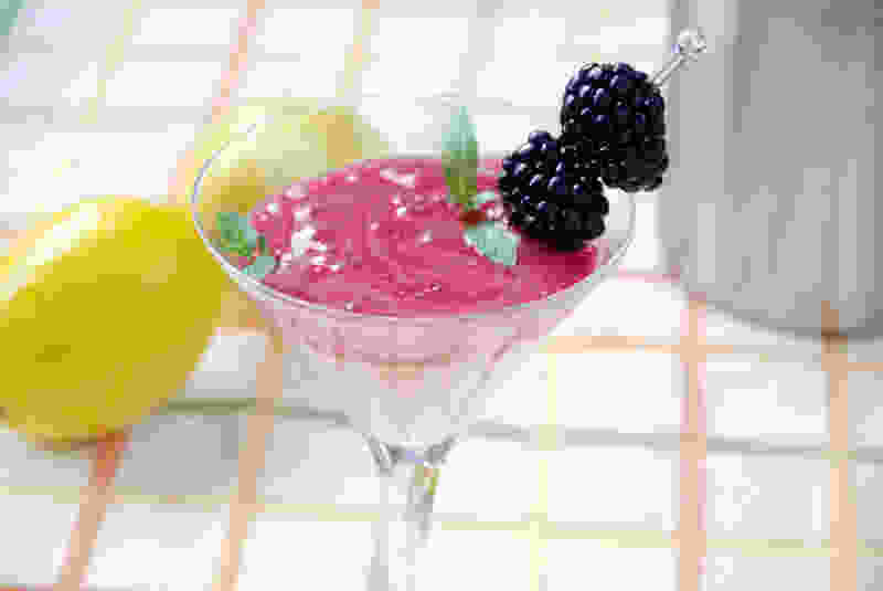 Blackberry foam cocktail