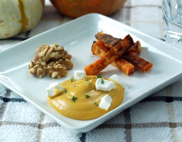 Roasted sweet potato foam flat