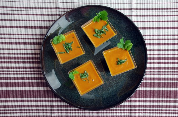 Ginger carrot soup top