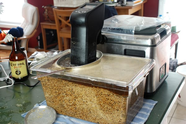 Sous vide beer chinois