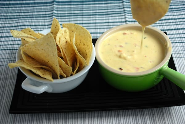 Shrimp and cheese queso sodium citrate