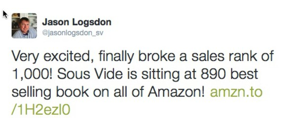 Amazon sales rank tweet
