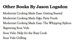 Jason logsdon other published books