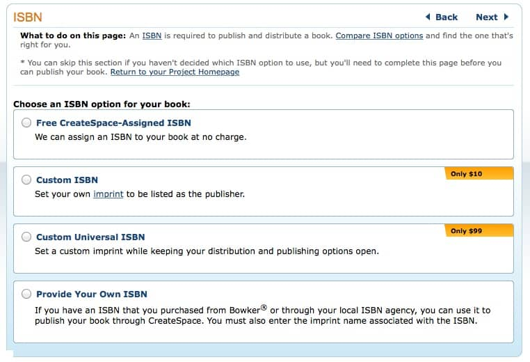 Createspace isbn explained