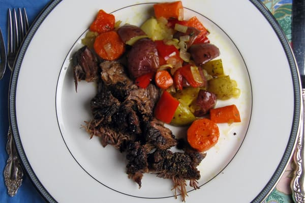 Chuck pot roast vegetables