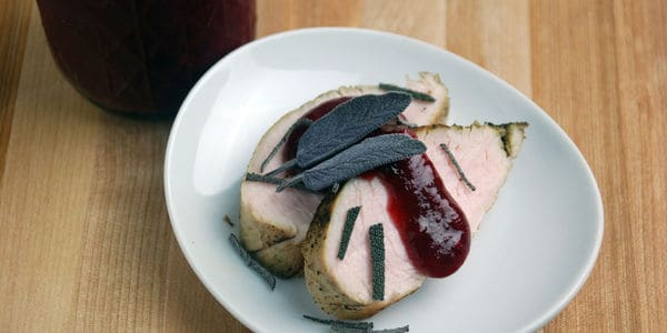 Turkey breast cranberry chutney