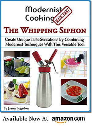 Whipping siphon book side display