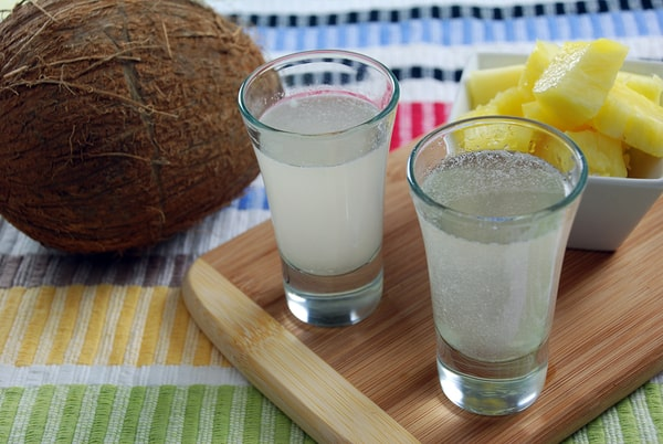 Pineapple kiwi infused tequila