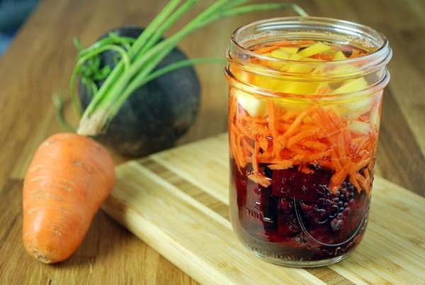Beet carrot ginger infused vinegar