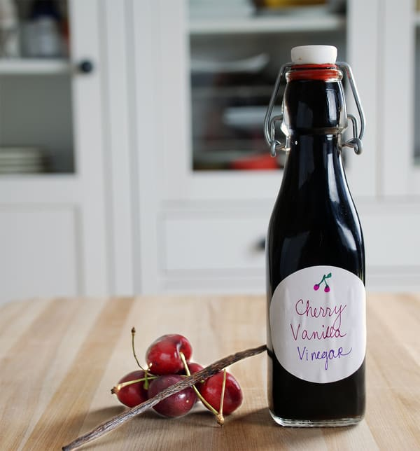 Cherry vanilla infused balsamic vinegar