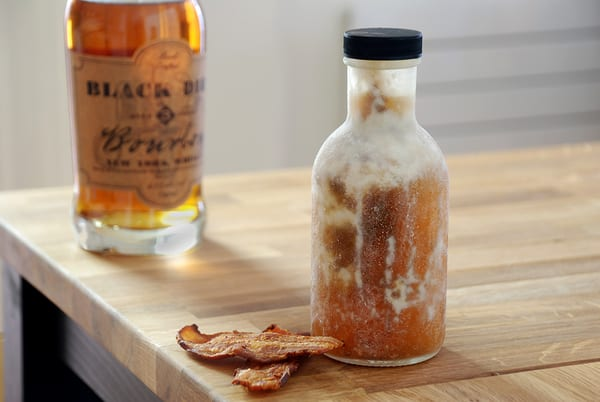 Bacon washed bourbon