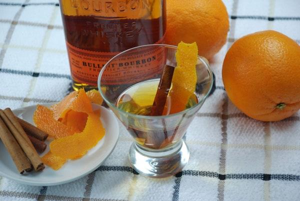 Orange cinamon infused bourbon