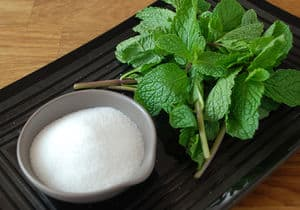 Mint infused simple syrup ingredients