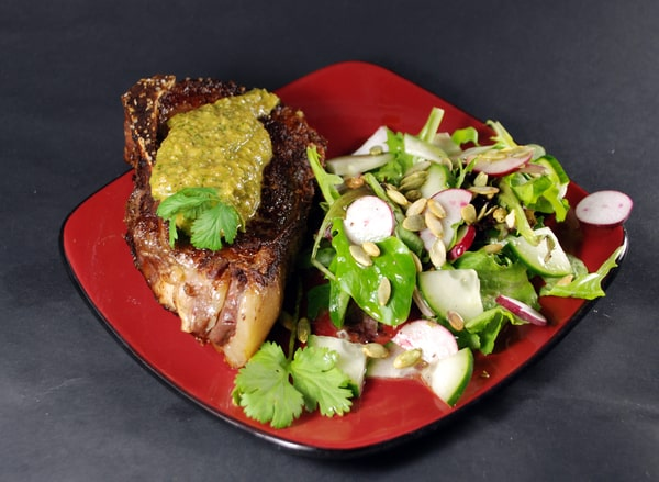 sous vide flank steak recipe with tomatillo salsa. Black Bedroom Furniture Sets. Home Design Ideas