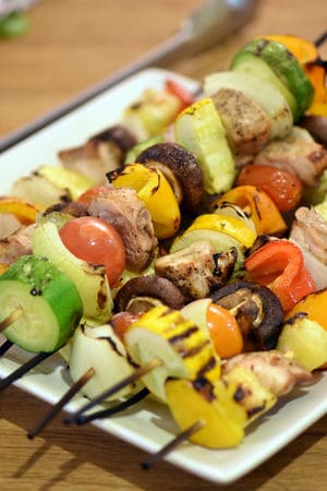 Sous vide shish kabobs chicken cook