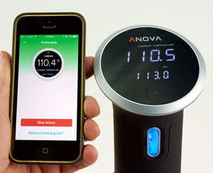 Anova wifi review phone and anova close up