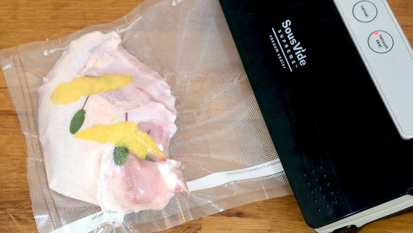 Sous vide turkey breast sealing