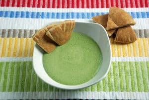 Spinach garlic dip