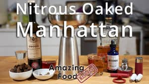 Nitrous oaked manhattan