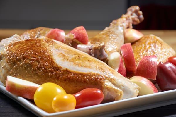 Sous vide turkey serving side