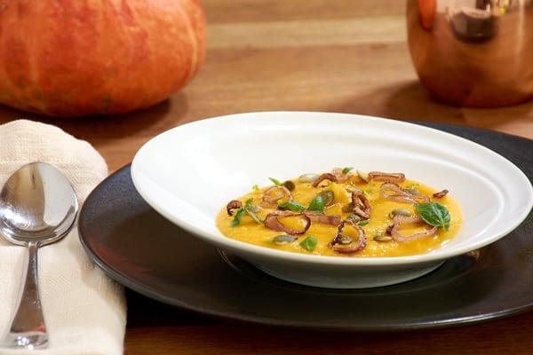 Sous vide butternut squash soup flat