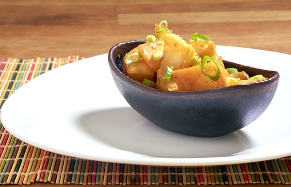 Sous vide turnips miso glazed flat