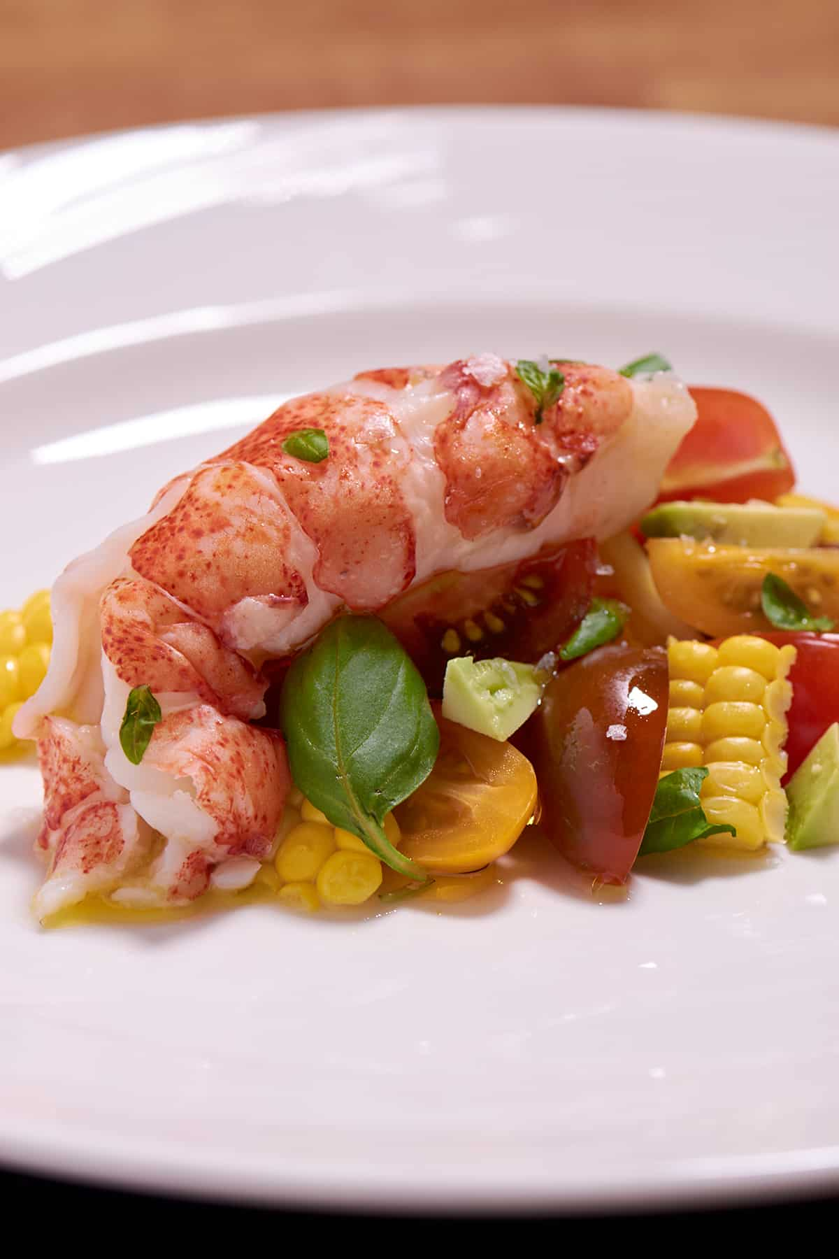 Lobster Tail With Tomato And Corn Salad Recipe Amazing | Lobster House