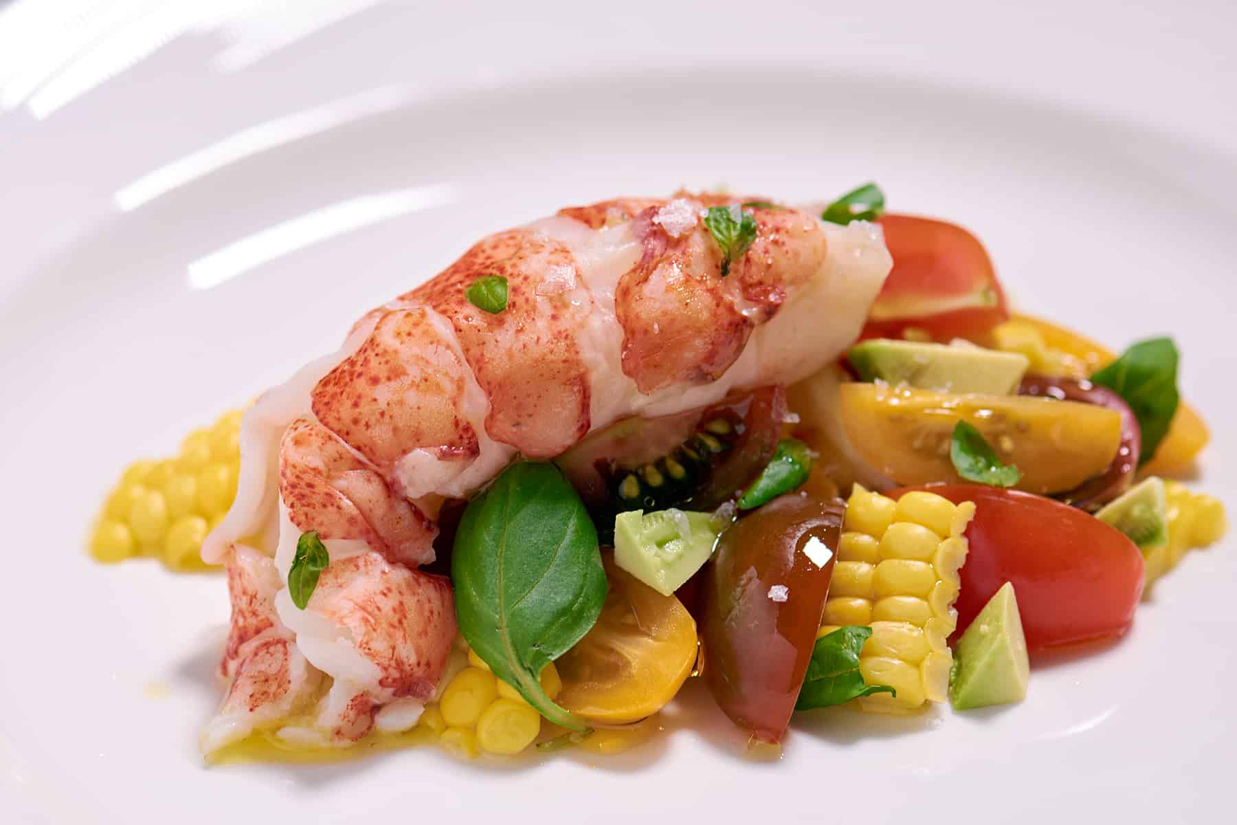 Lobster Tail with Tomato and Corn Salad Recipe - Amazing Food Made Easy