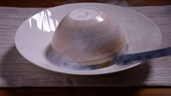 Sous vide smoked scallop salad smoking