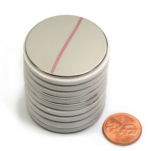 Disc neodymium magnets stacked